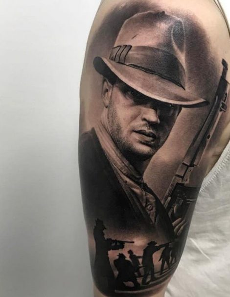 3d Realistic Tattoo Tom Hardy