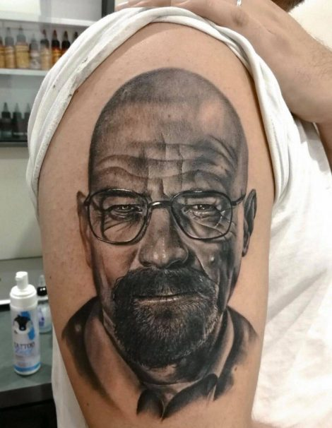 3d Realistic Tattoo Walter White