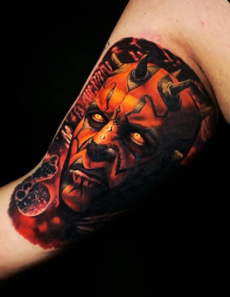 Color Tattoo Darth Maul
