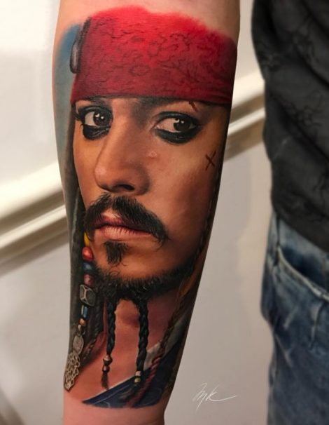 Color Tattoo Jack Sparrow