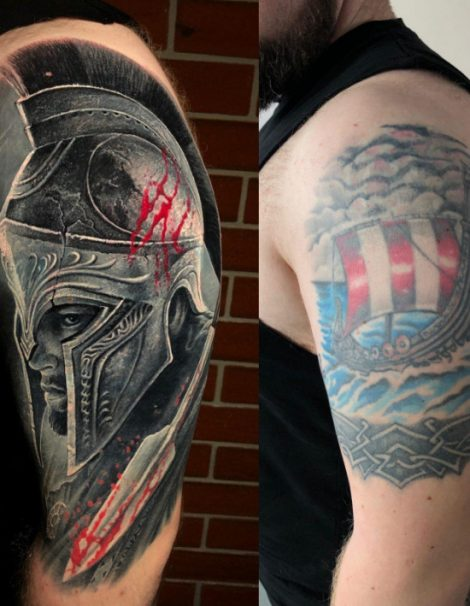 Cover Up Tattoo 300 Spartaner