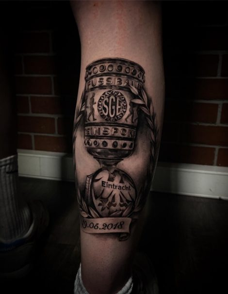 Eintracht SGE Pokal Black and Gray Tattoo 1