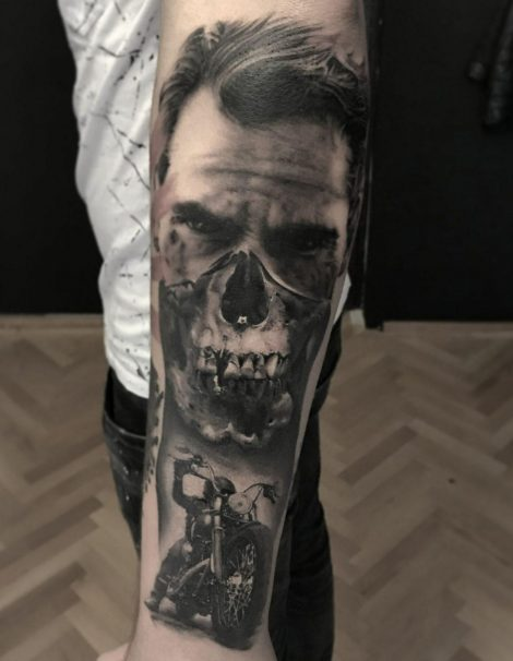 Horror Tattoo Höllen Rocker