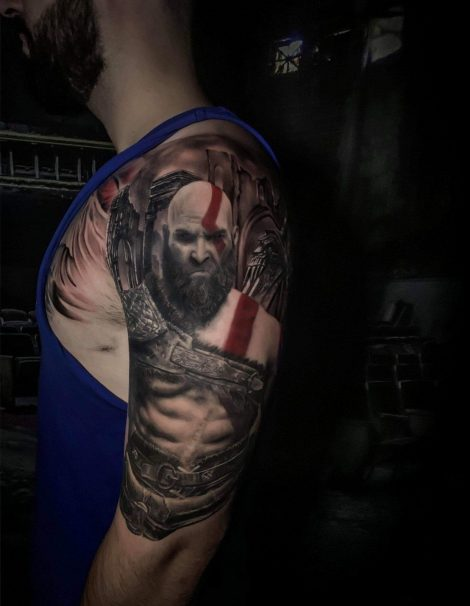 Kratos God of War Tattoo