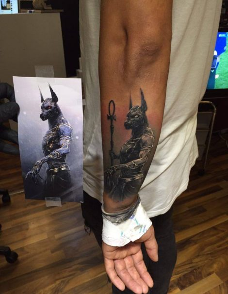 Ramses Black and Grey Tattoo