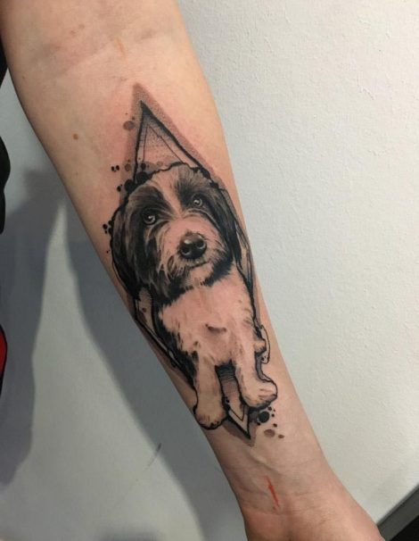 Sketch Abstract Tattoo Hund