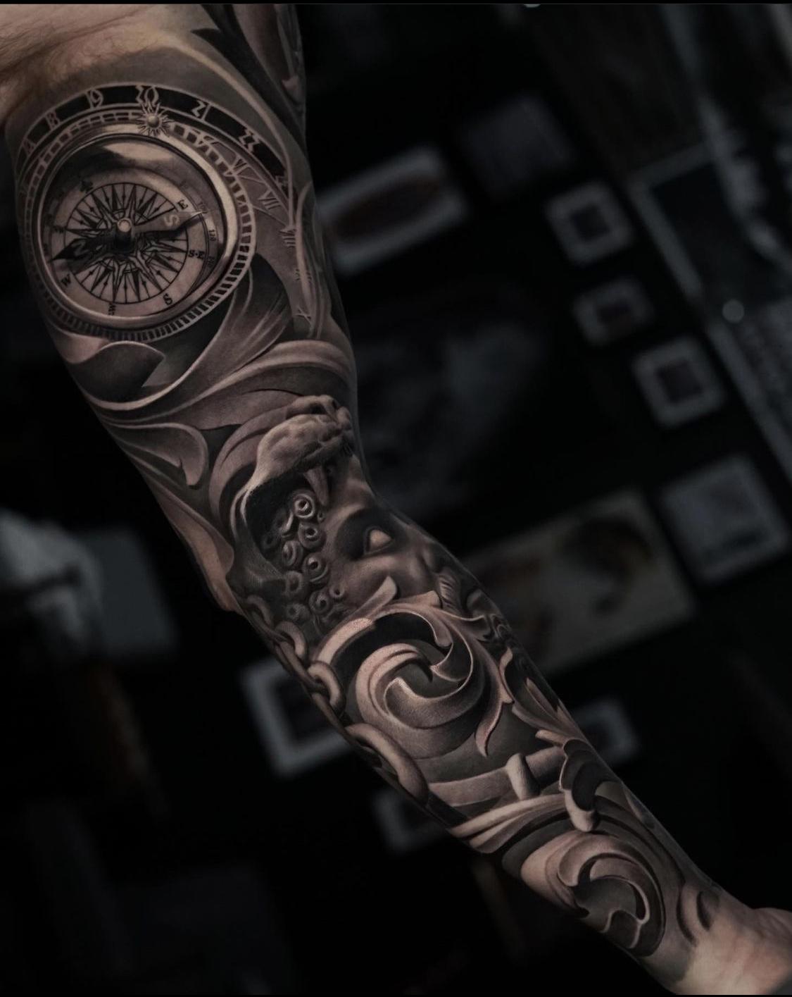 Tattoo mann streifen unterarm Streifen auf